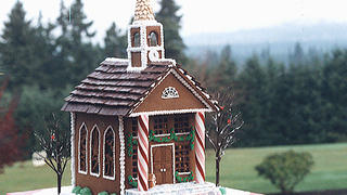 Georgian church in gingerbread by Peggy Butler