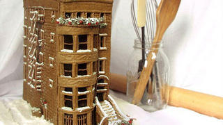 Classic Baltimore Brownstone in gingerbread.
