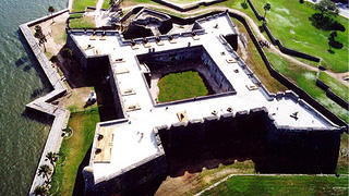Exterior view of Castillo de San Marcos with bastions.