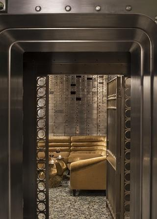 A converted historic bank vault in the 21c Durham.