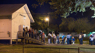 The line outside a Texas Dance Hall