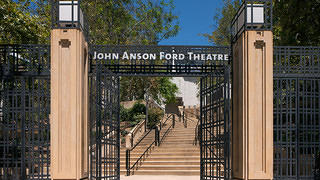 The entrance to the Ford Theatres.