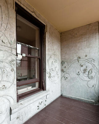 porch during conservation