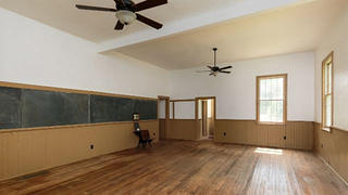 The grand room of a New Jersey schoolhouse.
