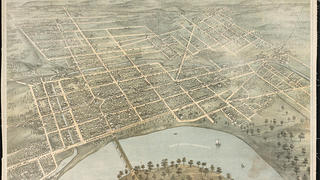 The 1872 Bird's Eye view of Wilkes-Barre PA.