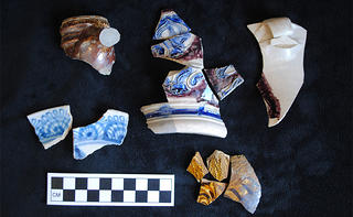 The sherds discovered at the Jackson House through archaeology. Credit: Historic New England.