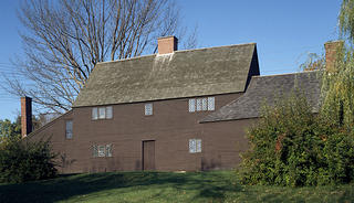 The Jackson House is an early example of a saltbox with later additions. Credit: Historic New England.