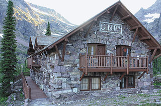 The Sperry Chalet in Glacier National Park before the fire destroyed its roof.