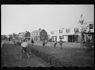 Children at play in a Greenhills superblock, 1939.