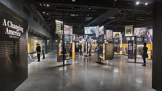 "A view of the exhibit, ""A Changing America: 1968 and Beyond exhibition"""