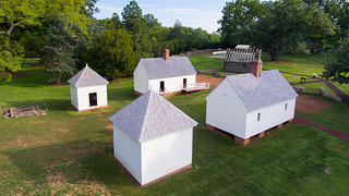 Slave cabins on Montpelier's South Yard.