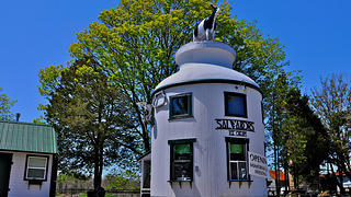 Salvador's Milk Can in South Dartmouth, Massachusetts.