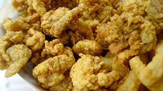 Fried clams at the Clam Box in Ipswich, Massachusetts.