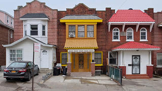 A series of three quirky rowhouses