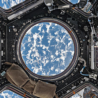 Astronauts can view the earth below from the cupola.