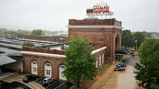 Exterior of the Chattanooga Choo Choo Hotel.