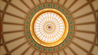 Domed ceiling of the Chattanooga Choo Choo Hotel in Tennessee.