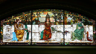 Allegorical window in the St. Louis Union Station Hotel.
