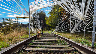 Public art installations can be found all along the BeltLine.