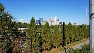 The BeltLine offers views of the city and the greenery surrounding it.