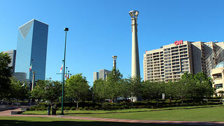 Centennial Olympic Park is a public part downtown that was constructed for the 1996 Summer Olympics.