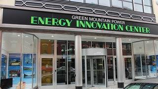 The exterior of Green Mountain Power's Energy Innovation Center.