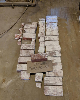 The bricks were removed and set down exactly in the same way. Credit: Kirsten Hower