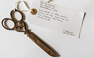 These delicate scissors were probably used by an enslaved house servant.