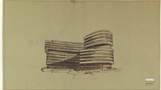 A Studio Moretti drawing of the Watergate Building, 1961 to '63.