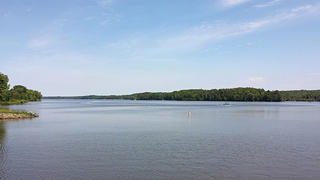 A view of the Pymatuning Lake, which attracts wildlife and visitors.