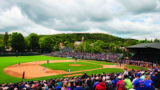 A game being played at Doubleday Field.