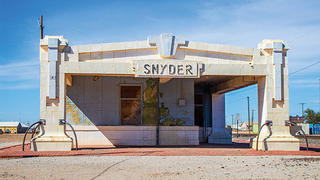 The Snyder Depot looked neglected prior to its demolition.