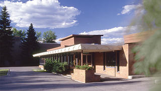 The Wright-designed clinic was a modest building.