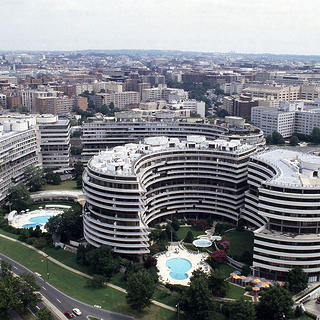 The six buildings that comprise the Watergate.
