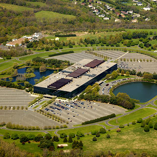 An aerial view of the Bell Labs campus.