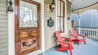 My two wrap-around porches make for comfortable outdoor seating year-round!