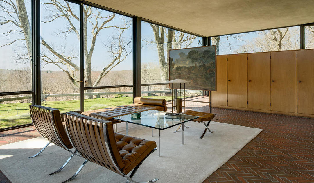 Fixing The Ceiling At Philip Johnson S Glass House A No Brainer