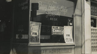 The old neon lights in the former Bay Horse Cafe.
