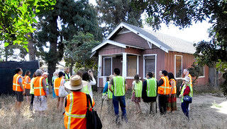 Wintersburg Preservation Task Force leads site tour.