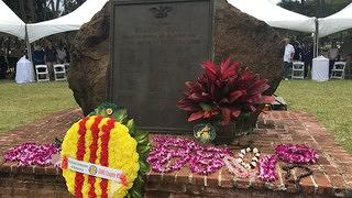 Wreaths and Lei at Waikiki War Memorial Natatorium Memorial Day 2018