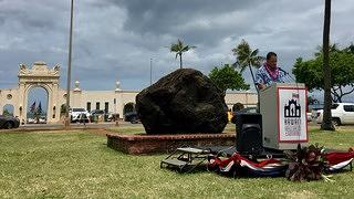 Frank Weight Speaking at  Waikiki War Memorial Natatorium Memorial Day 2018