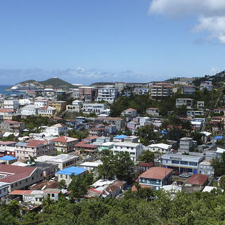Hurricane damaged resources in Charlotte Amalie National Historic District, U.S. Virgin Islands