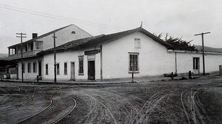 Historic photo of the Corner Store at Cooper-Molera, now occupied by the Alta Bakery & Cafe.