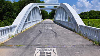 Rainbow Bridge over Brush Creek in Riverton, Kansas