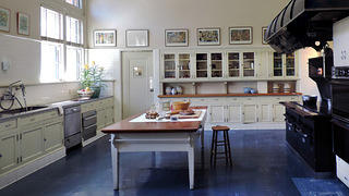 Filoli's historic, restored kitchen.