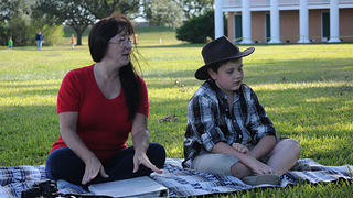 Jack and Angel Cantrell in front of their family home at Chalmette National Cemetery.