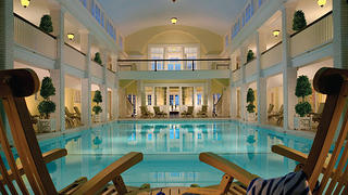 The swimming pool at the Omni Bedford Springs Resort.