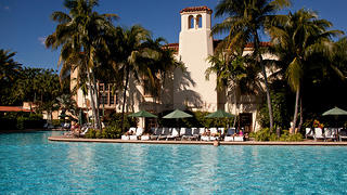 The swimming pool at the Biltmore Hotel.