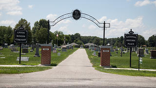 Entrance to the Union Miners Cemetery in Mt. Olive, Illinois.