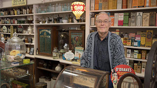 Bill Deck, owner of Doc's Soda Fountain in Girard, Illinois.